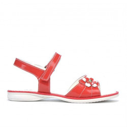 Children sandals 524 patent red coral