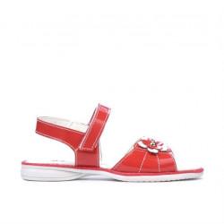 Sandale copii mici 55c lac rosu corai