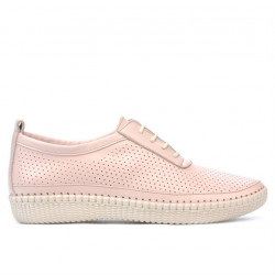 Women loafers, moccasins 688 nude
