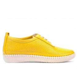 Women loafers, moccasins 688 yellow