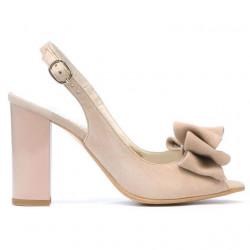 Sandale dama 1256 ivoriu antilopa