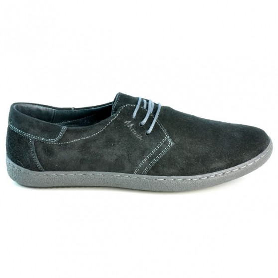 Men casual shoes 774 black velour