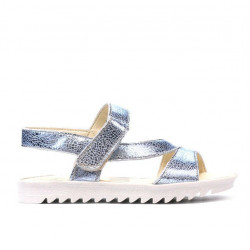 Children sandals 525 bleu argento
