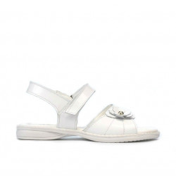 Sandale copii mici 55c lac alb