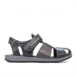Children sandals 324 black+gray