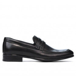 Men stylish, elegant, casual shoes 875 black