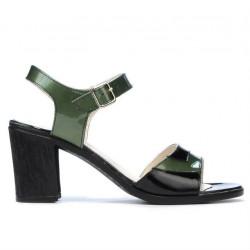 Sandale dama 5042 verde+negru