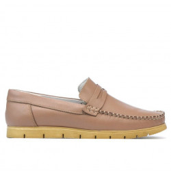 Women loafers, moccasins 692 cappuccino