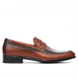 Men stylish, elegant, casual shoes 875 a cognac