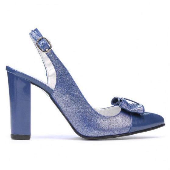 Sandale dama 1267 lac albastru combinat