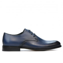 Men stylish, elegant shoes 878 a indigo