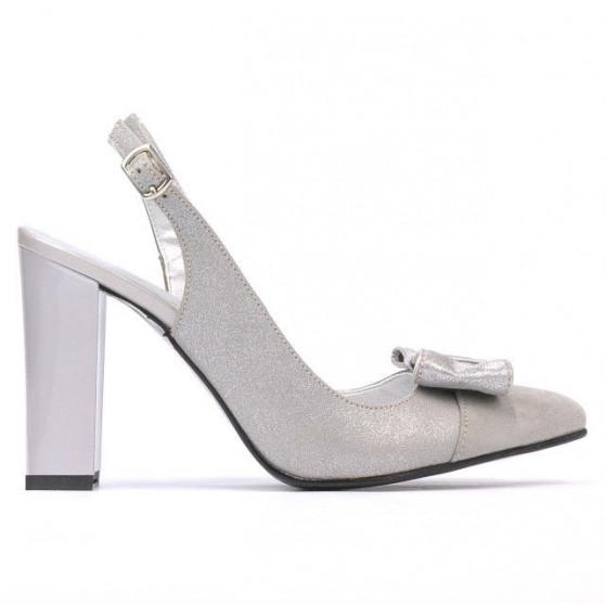 Sandale dama 1267 gri antilopa combinat
