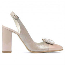 Sandale dama 1267 lac ivoriu combinat