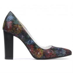 Pantofi eleganti dama 1261 negru pastel