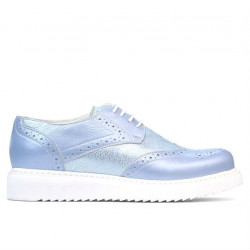 Women casual shoes 663-2 bleu pearl combined