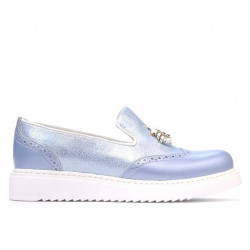 Women casual shoes 659-1 bleu pearl combined