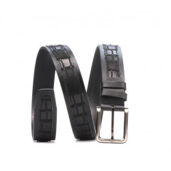 Men belt 18b black+croco black