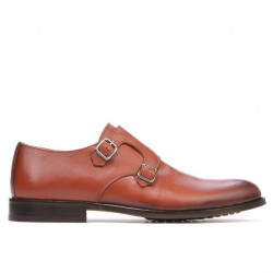 Men stylish, elegant shoes 840 a cognac