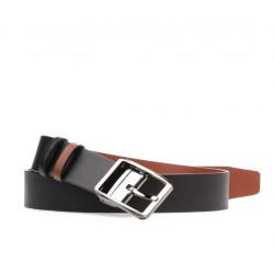 Men belt 09b bicolored black+brown deschis