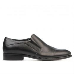 Men stylish, elegant shoes 877 black