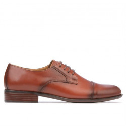 Men stylish, elegant shoes 838 a cognac
