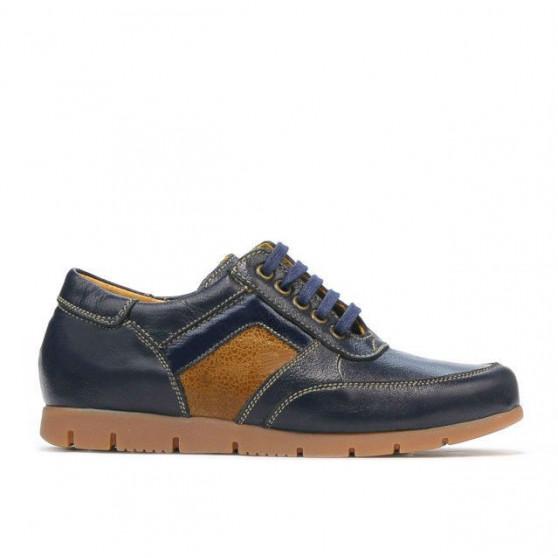 Pantofi copii 164 indigo+maro