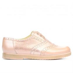 Pantofi casual dama 693 pudra sidef combinat