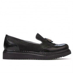 Women casual shoes 659 patent black combined