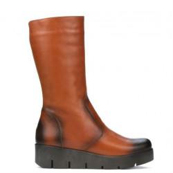Women knee boots 3315 a brown
