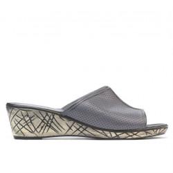 Sandale dama 5004m p gri perforat