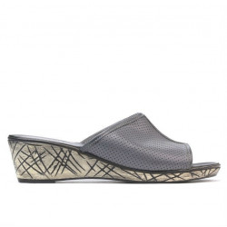 Women sandals 5004m p gray perforat