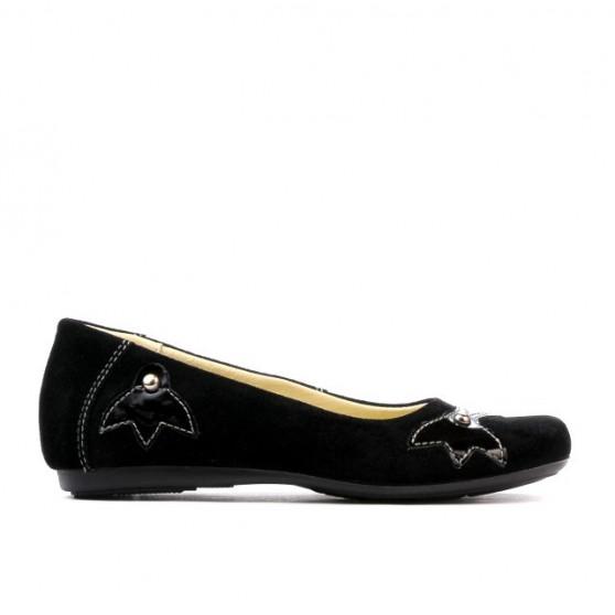 Pantofi copii 117 negru velur