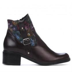 Women boots 3319 bordo pastel