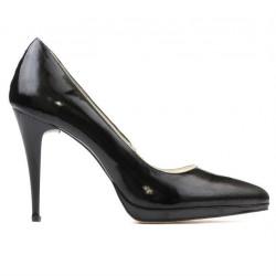 Pantofi eleganti dama 1244 lac negru satinat