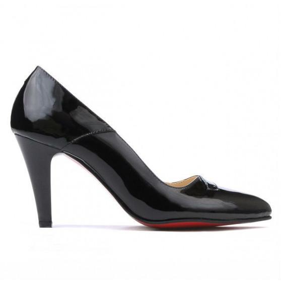Pantofi eleganti dama 1231 lac negru