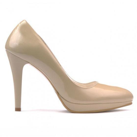 Pantofi eleganti dama 1233 lac bej