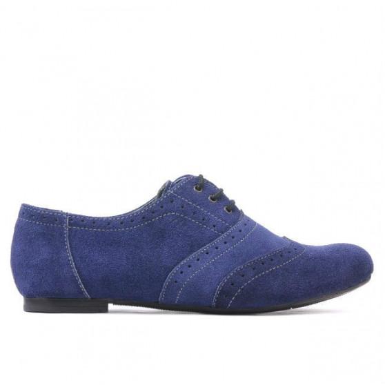 Pantofi casual dama 186 indigo velur