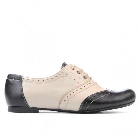 Pantofi casual dama 186 negru+bej