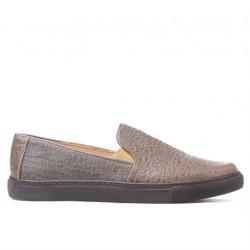 Pantofi sport dama 658 croco nisip