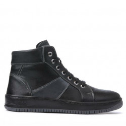 Men boots 4107 black+gray