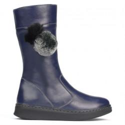 Children knee boots 3011 indigo