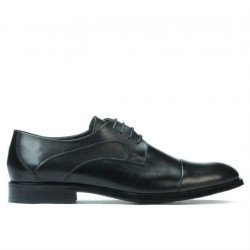 Men stylish, elegant shoes 879 black