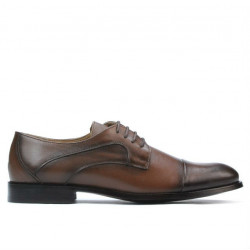Men stylish, elegant shoes 879 a sand