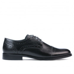 Men stylish, elegant shoes 880 black