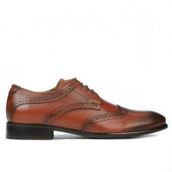 Men stylish, elegant, casual shoes 874 a cognac