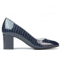 Women stylish, elegant shoes 1268 patent indigo