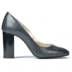 Pantofi eleganti dama 1269 piton indigo