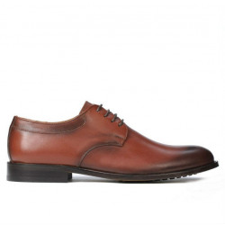 Men stylish, elegant shoes 839 a cognac