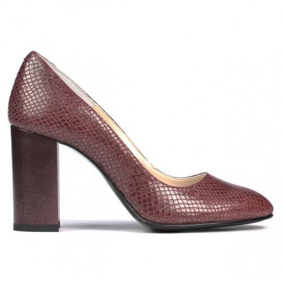 Pantofi eleganti dama 1269 piton bordo
