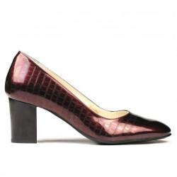 Women stylish, elegant shoes 1268 patent bordo